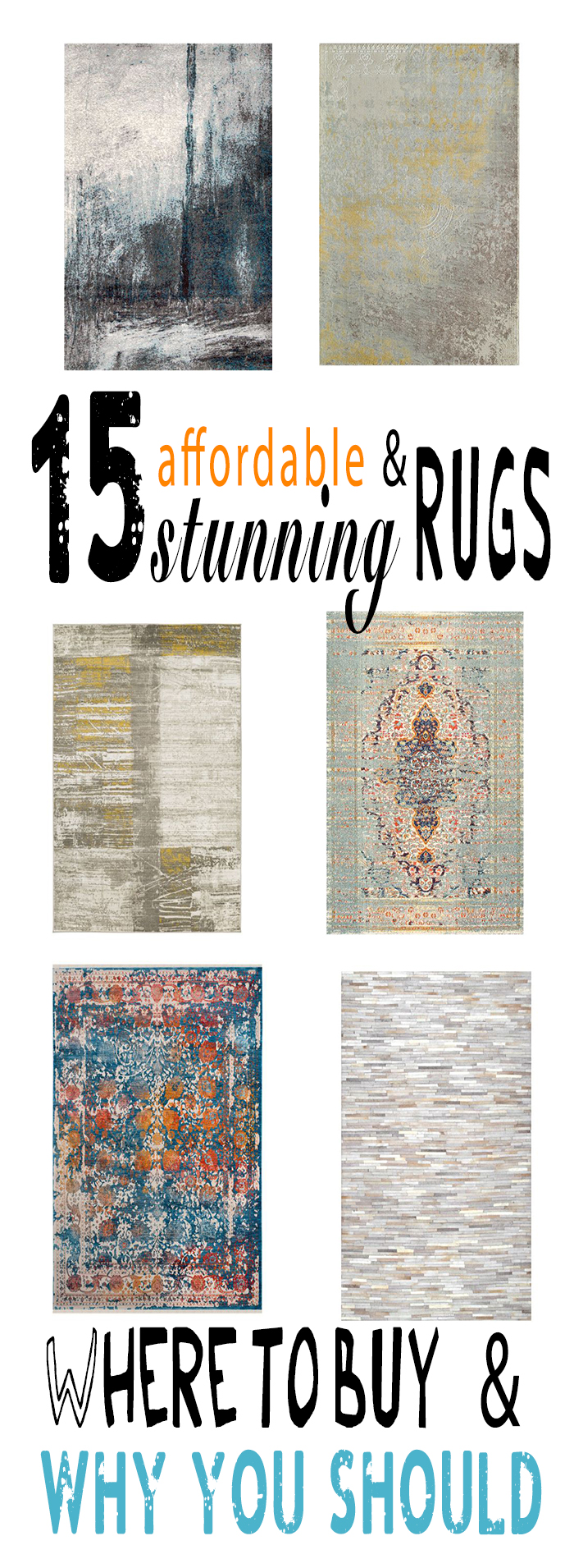 Stunning area rugs on sale | Where to buy and why you should! Contemporary, vintage, rustic, modern, traditional, classic, french, or bohemian. These rugs I specifically picked out as favorites, are at your disposal, ranging in every style and color.