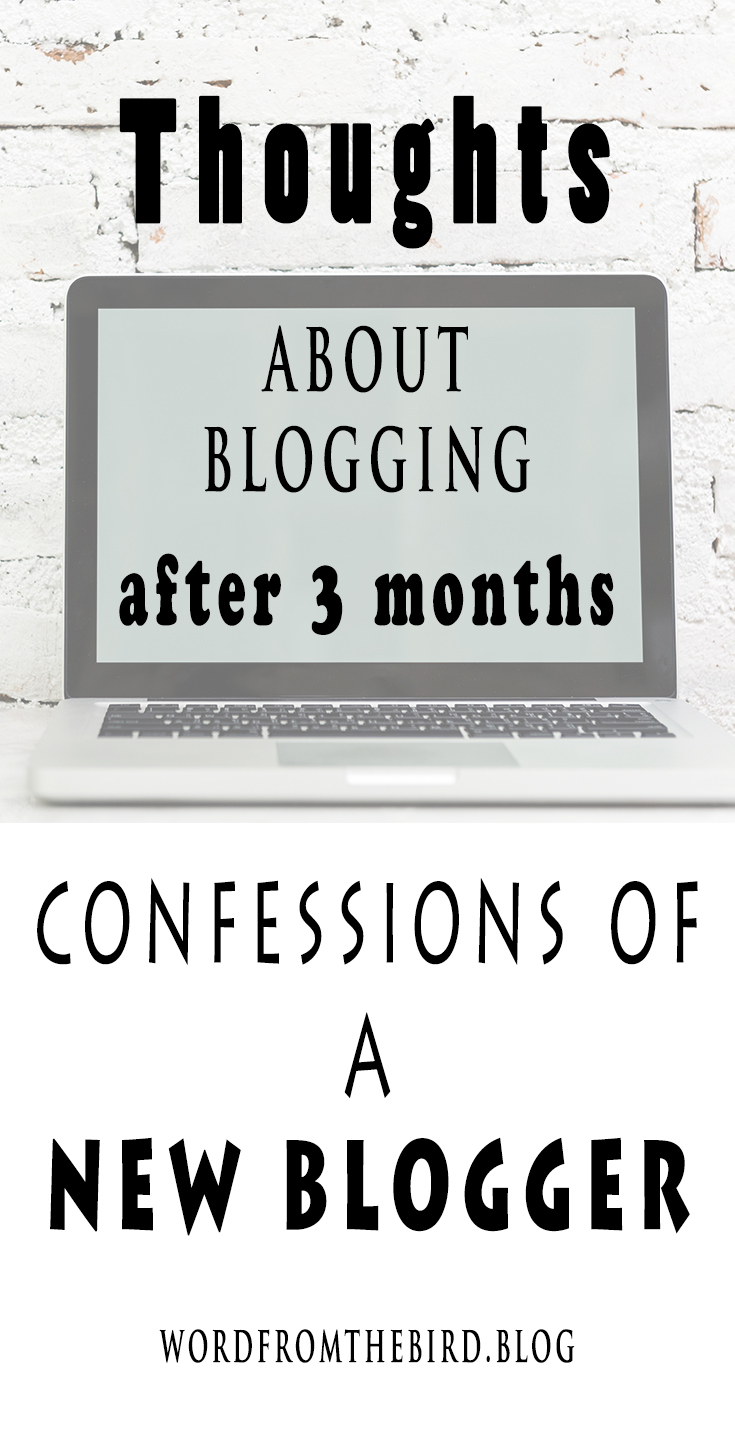 Blogging thoughts for a beginner blogger. Starting a blog.