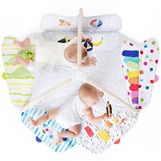 keep baby entertained in style with this amazing activity mat that is designed by developmental experts.