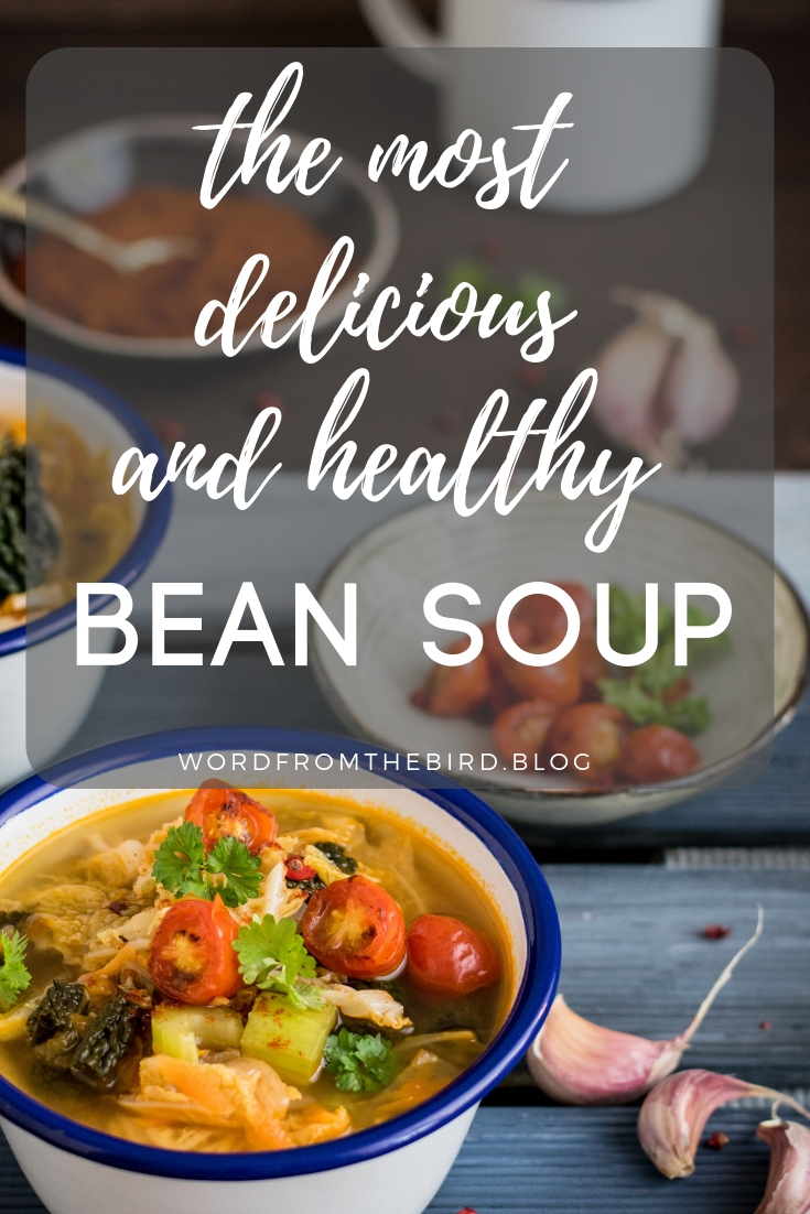 healthy bean and chicken rustic soup recipe. Warm your soul with my healthy recipe, great for a cozy day at home, staying out from the cold weather. #recipe #soup #healthy #vegetable #chicken #chickensoup #thebest #healthiest #comfortfood #soups #garlic #onions #tomatoes #beans #leaks #artichokes