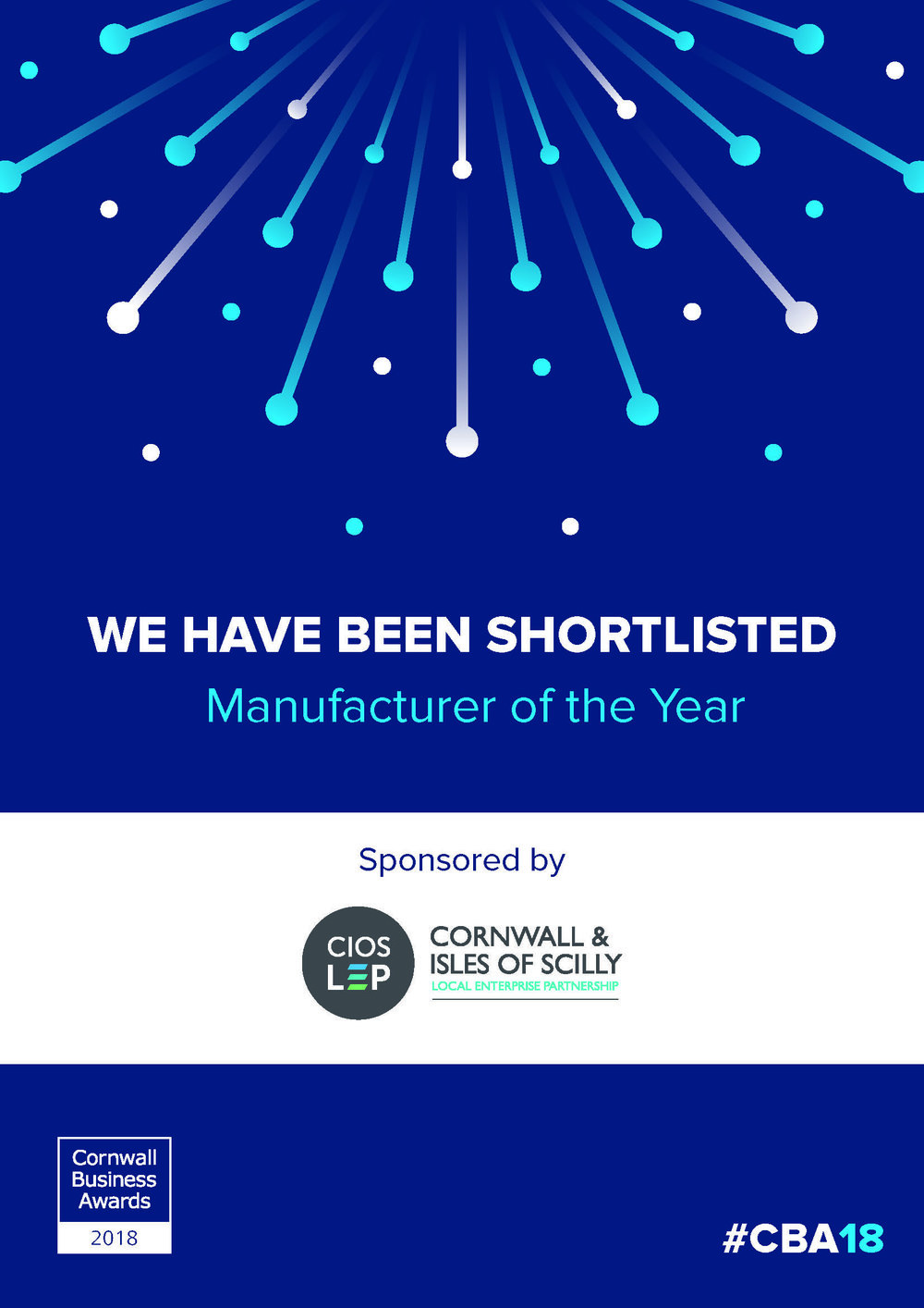 CBA 2018 Shortlist Manufacturer of the Year