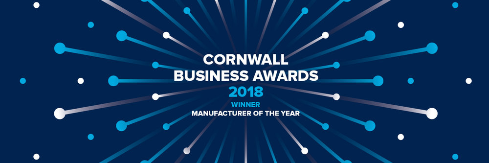 Winner Manufacturer of the Year 2018 - Cornwall Business Awards