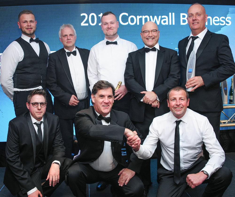 CIS (UK) Ltd - Cornwall Business Awards Team Photo