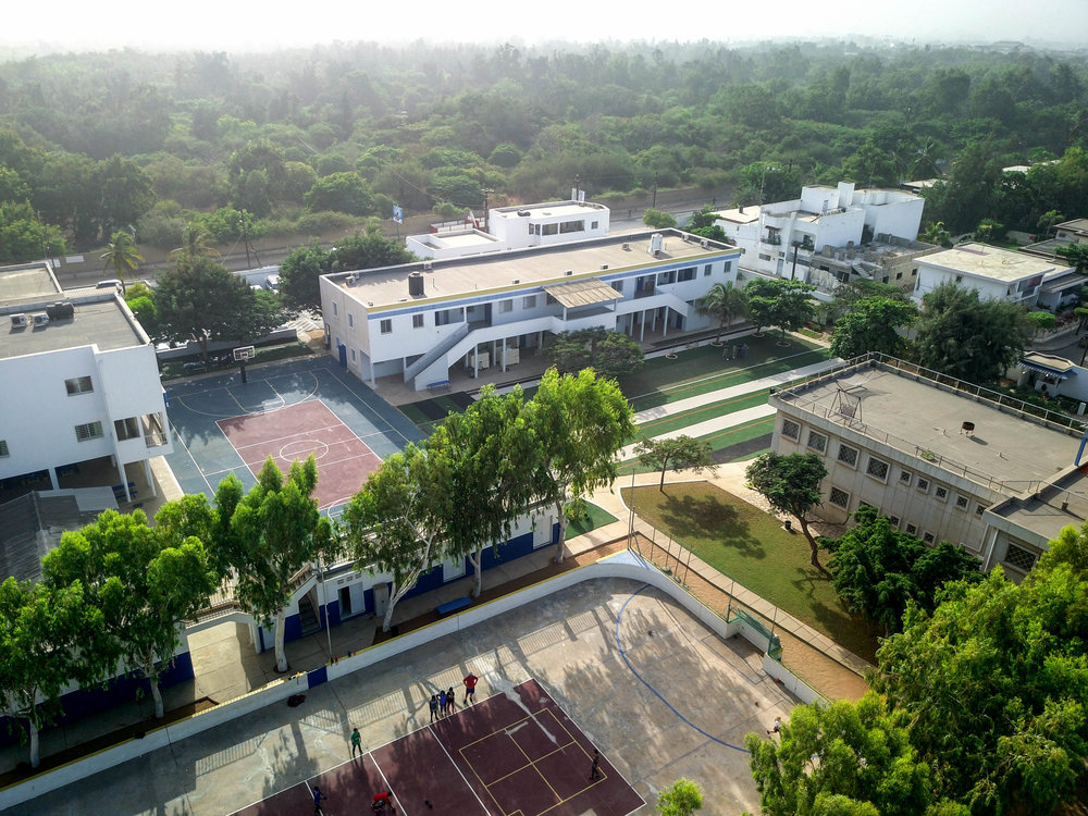 Dakar Academy campus and student community.