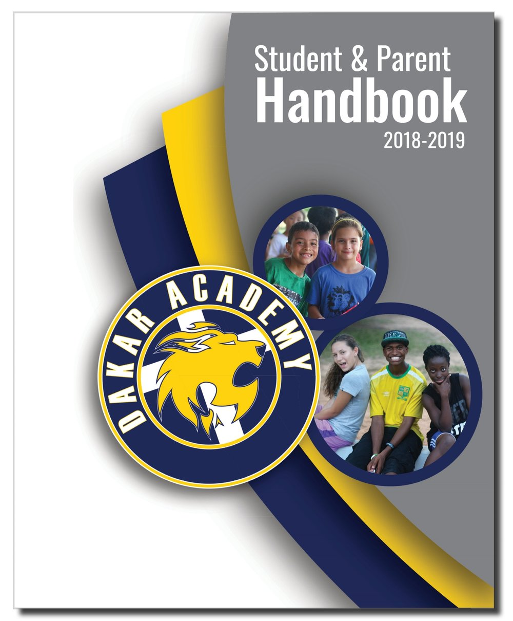 Dakar Academy's student handbook and education guidelines for a christian school serving families in West Africa and North Africa.