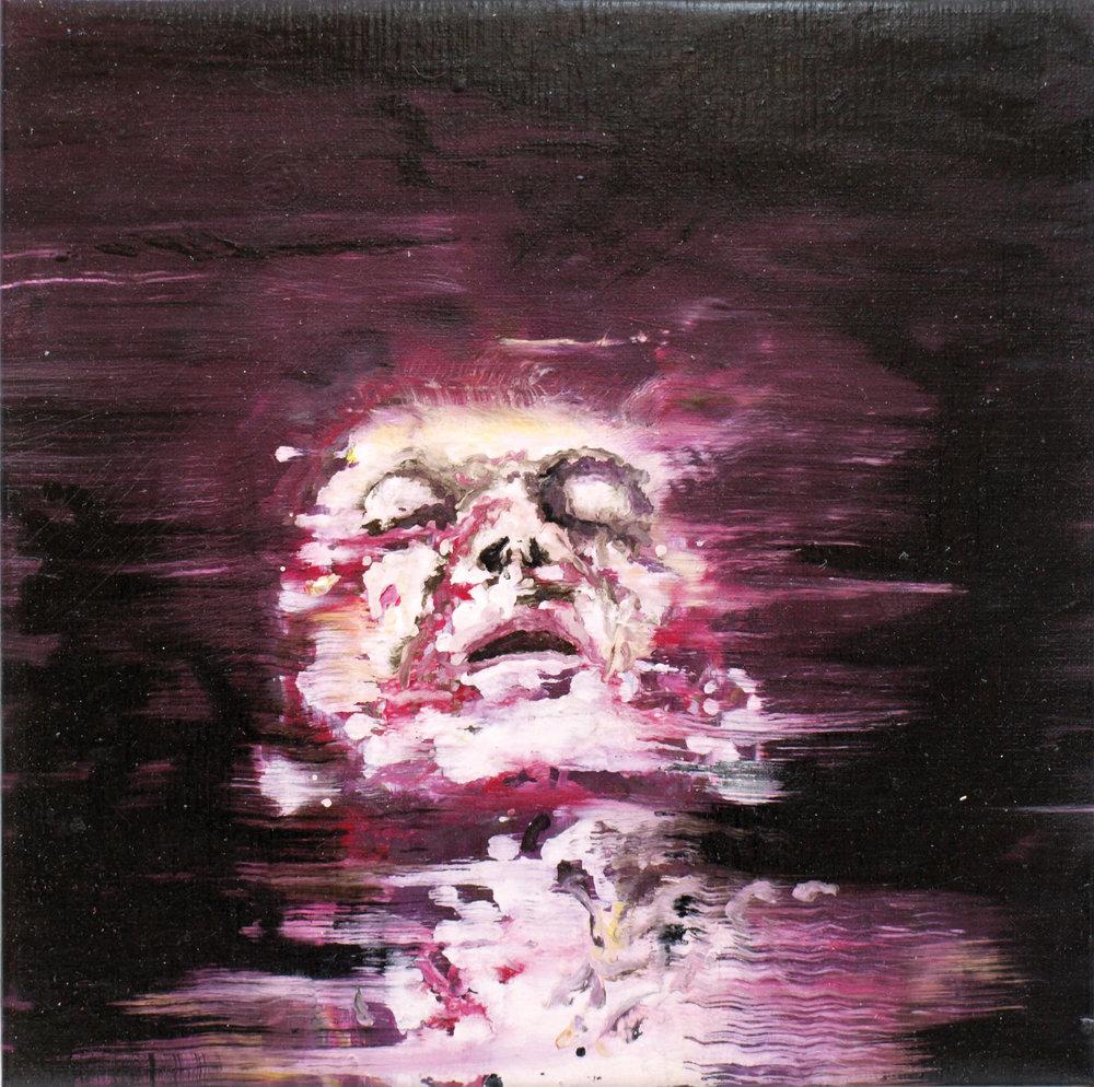 """Renaissance circus X"" oil on linen 50x50 cm 2012"