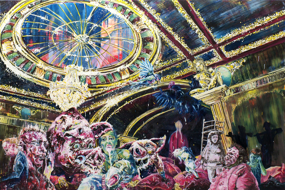 """Slumberland Manifesto I"" oil on linen 200x300 cm 2012 collection Spahn-Funke, Berlin"