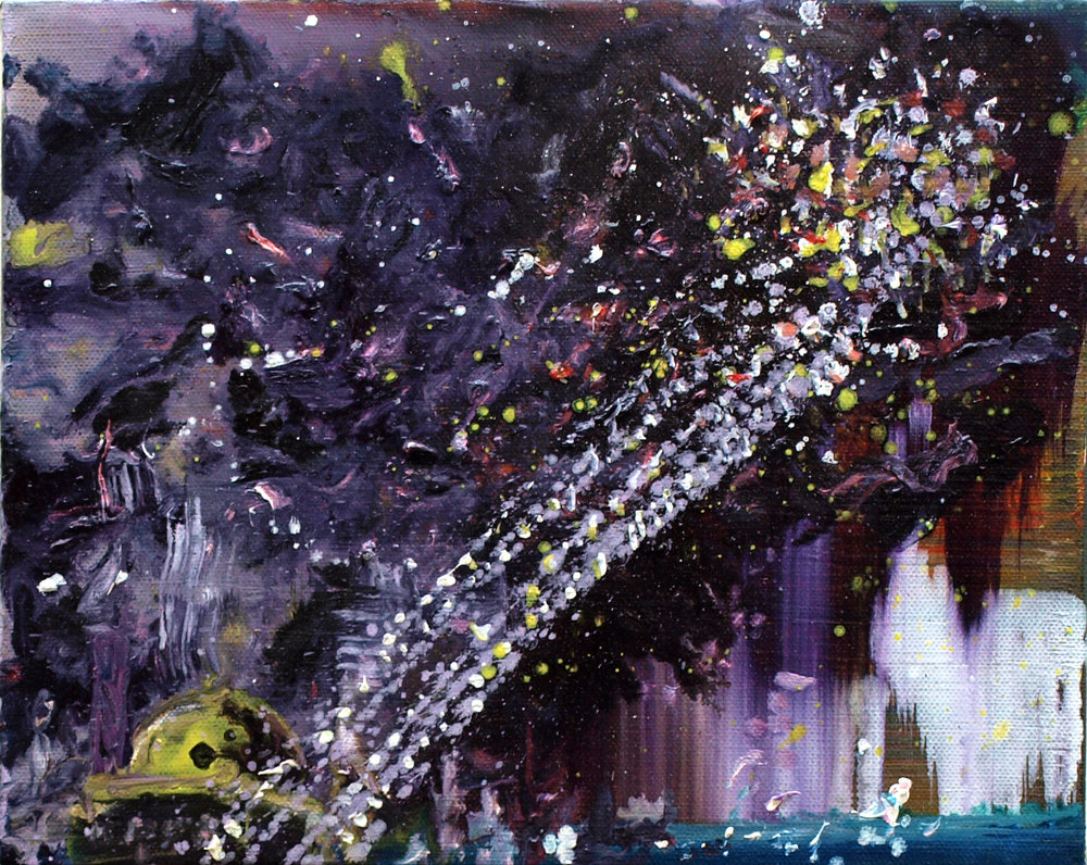 """night over tripoli I"" oil on linen 24x30 cm 2011 Private collection Amsterdam NLD"