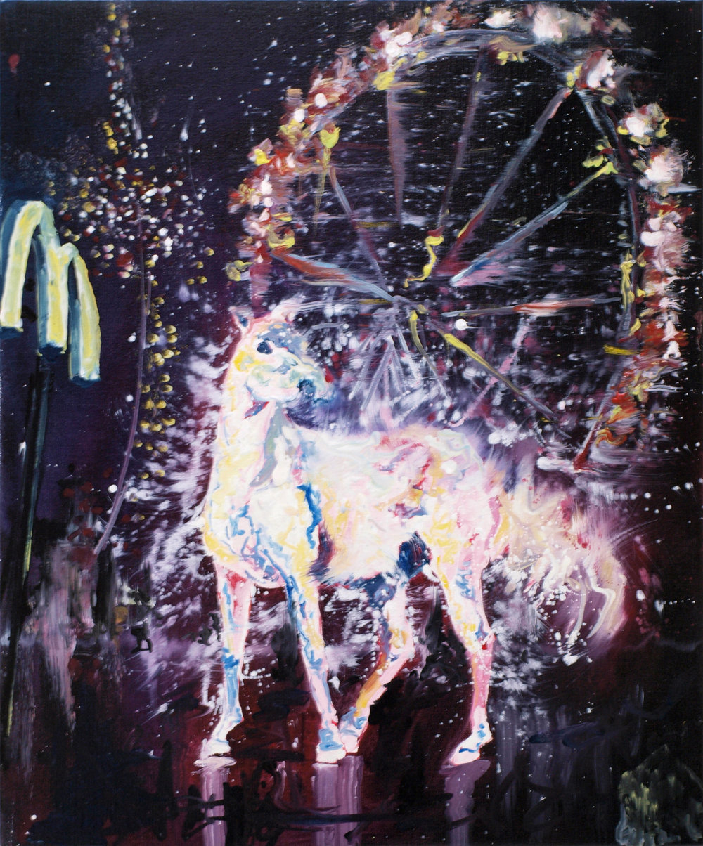 """Bright sign I"" oil on linen 65x50 cm 2012 private collection Amsterdam NLD"