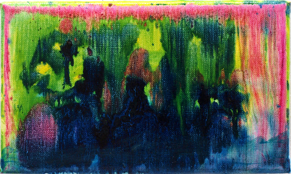 """Dead men walking"" oil on linen 18x30,5 cm 2012 private collection Amsterdam NLD"