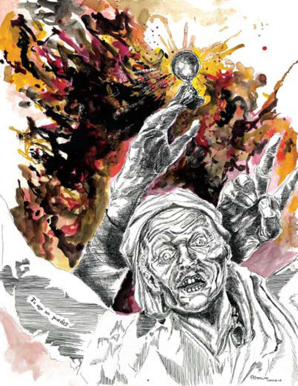 """""""Tu que no puedes"""" ink on paper 65x50 cm 2011"""
