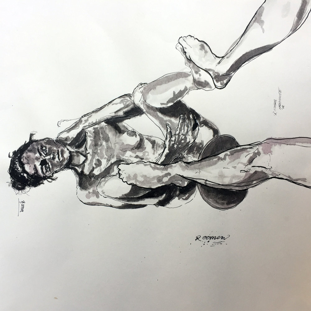 Sketch for Baruti Narcissus Indian ink on paper 40x40 cm 2015