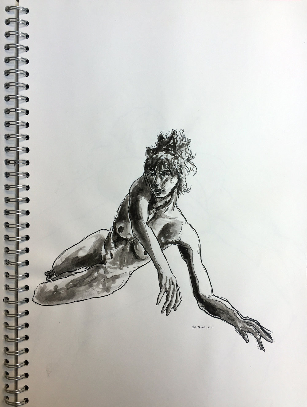 Nude Indian ink on paper 42x29,7 cm 2012