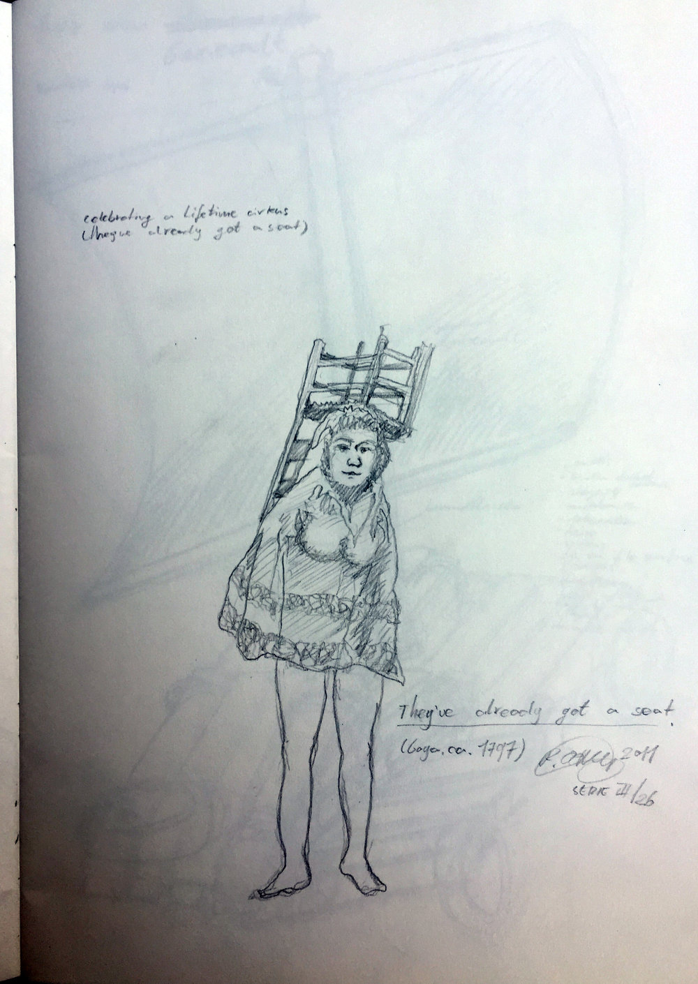 Sketch for Slumberland Manifesto (after Goya) pencil on paper 42x29,7 cm 2011