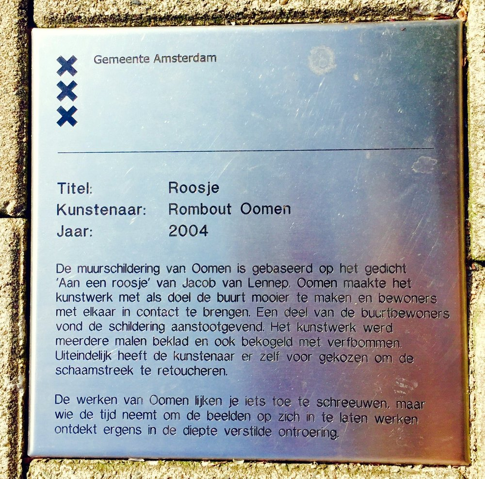 Official notice of the city of Amsterdam on corner of Jacob van Lennepstraat/Naussaukade