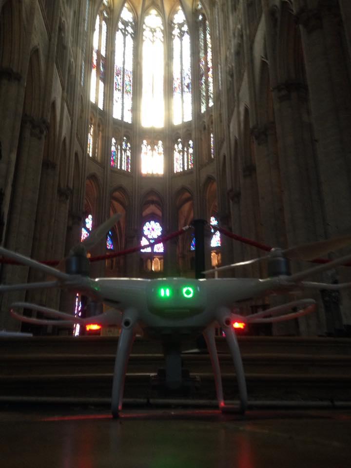 Drone Beauvais Cathedrale gothique Saint Pierre film historique