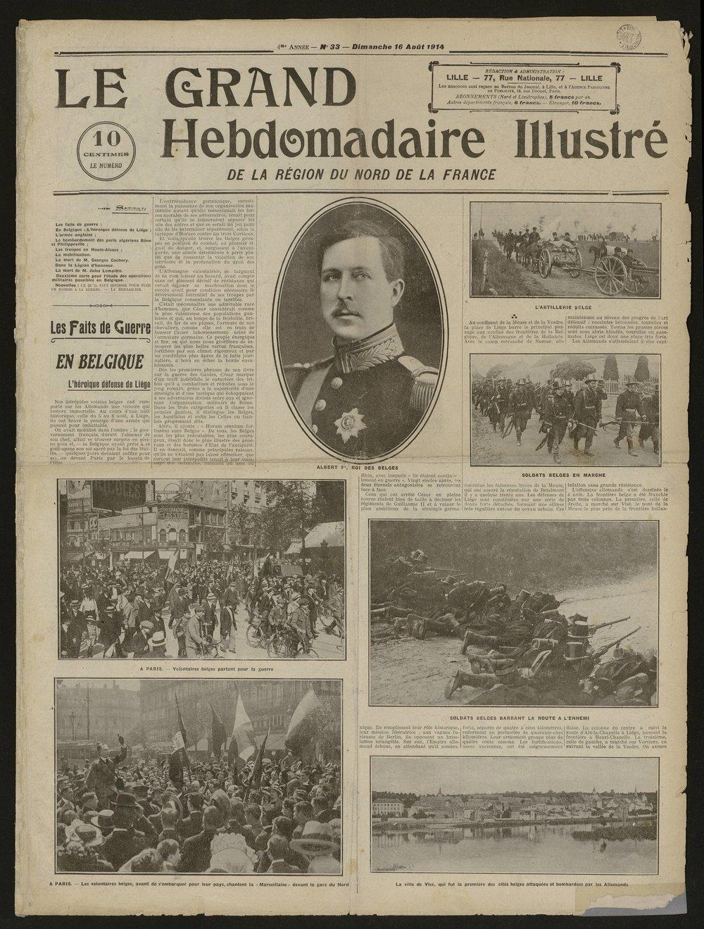 Journal de guerre Dimanche 16 août 1914