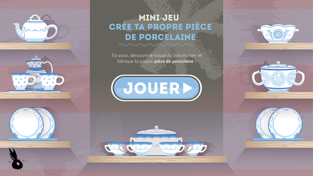 menu jeu porcelaine