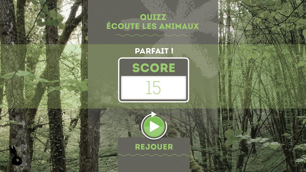 score quizz animaux parfait