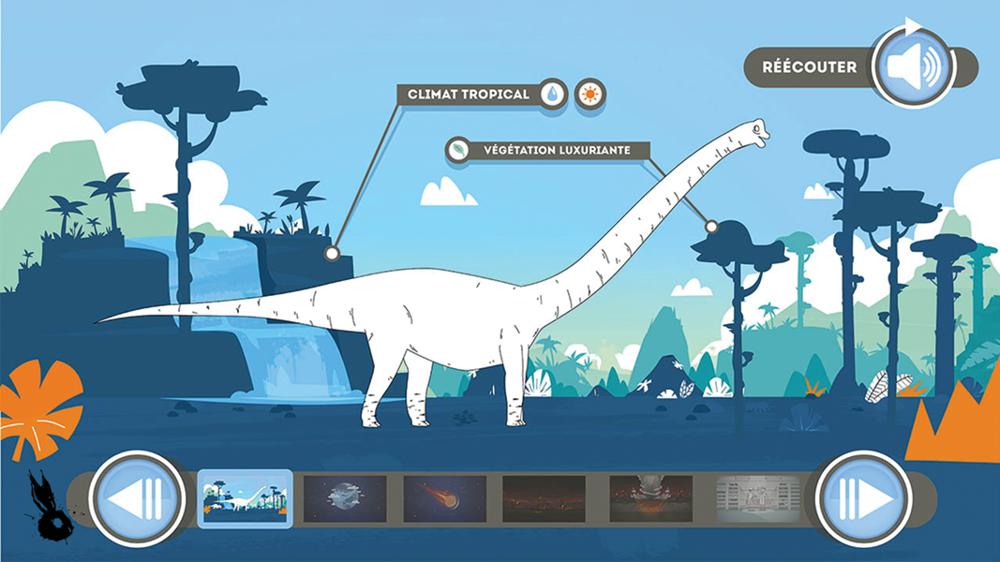 animation dinosaure