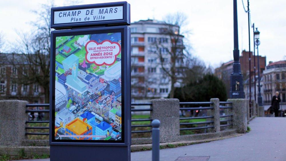 Illustration voeux 2012 Métropole Européenne de Lille
