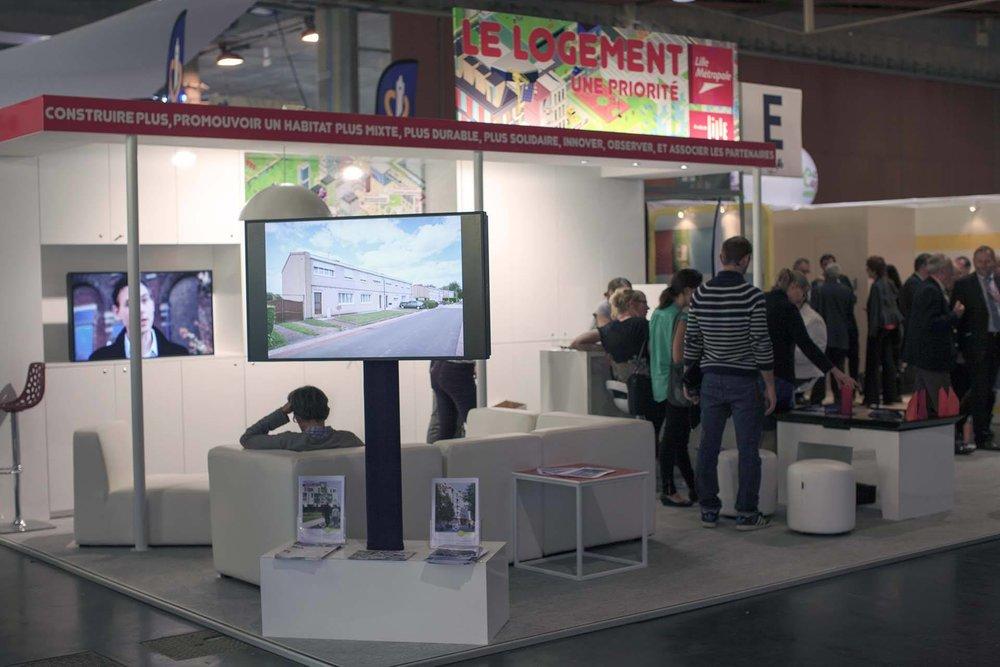 Stand LMCU et Ville de Lille - Congrès de l'Union Sociale pour l'Habitat