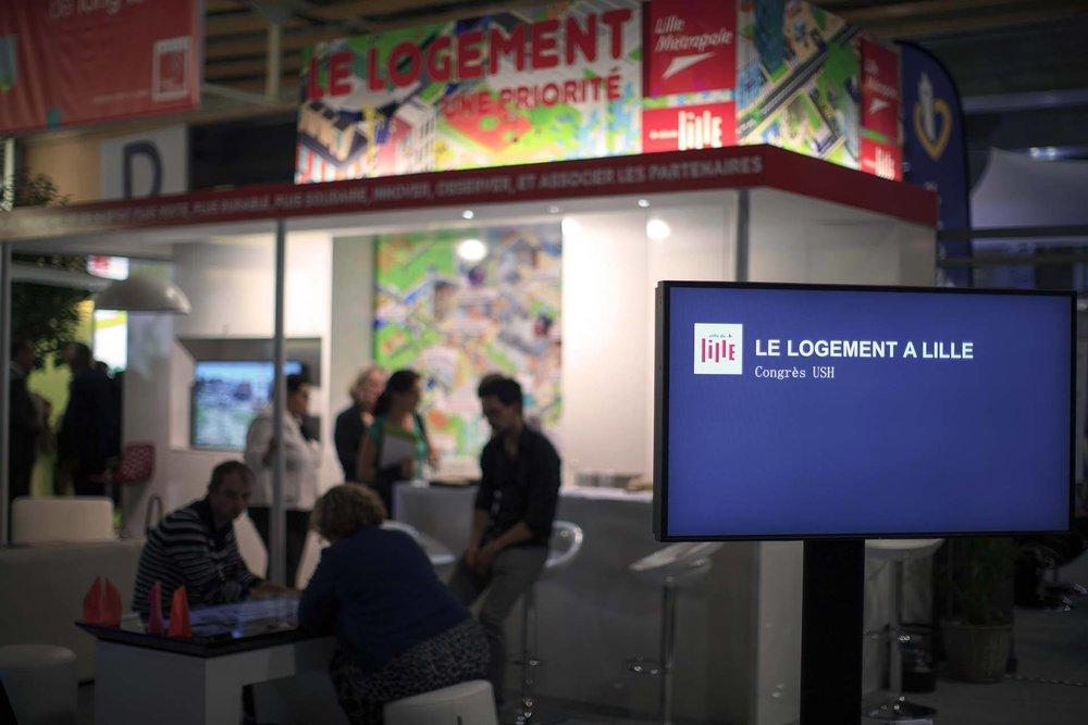 Stand LMCU - Ville de Lille - Congrès Union Sociale pour l'Habitat