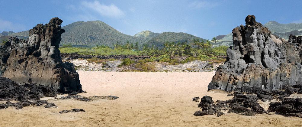 Panneau décor des îles du Galápagos