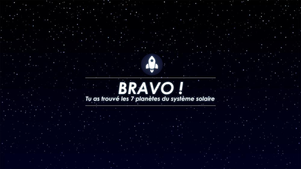 Message de félicitation - télescope interactif
