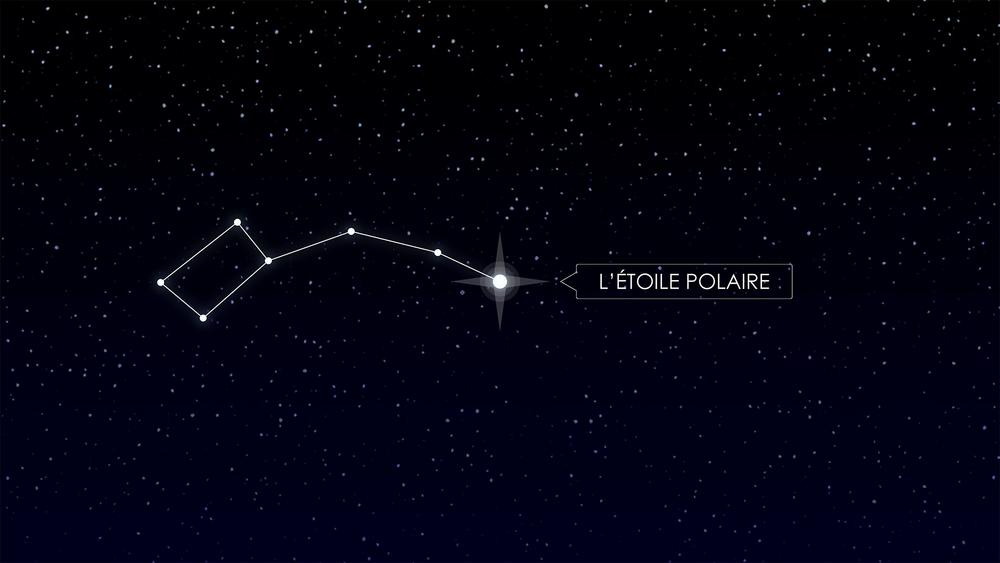 Screen de l'animation sur l'Etoile Polaire