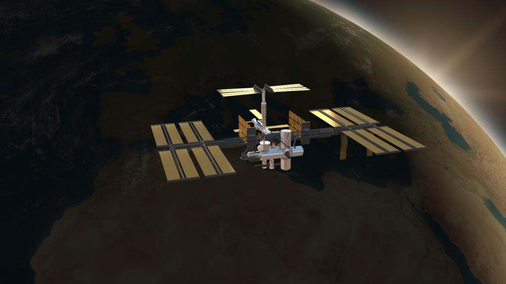 Screen de l'animation sur la Station ISS