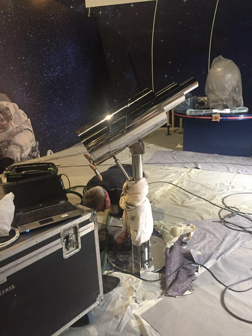 Installation télescope interactif