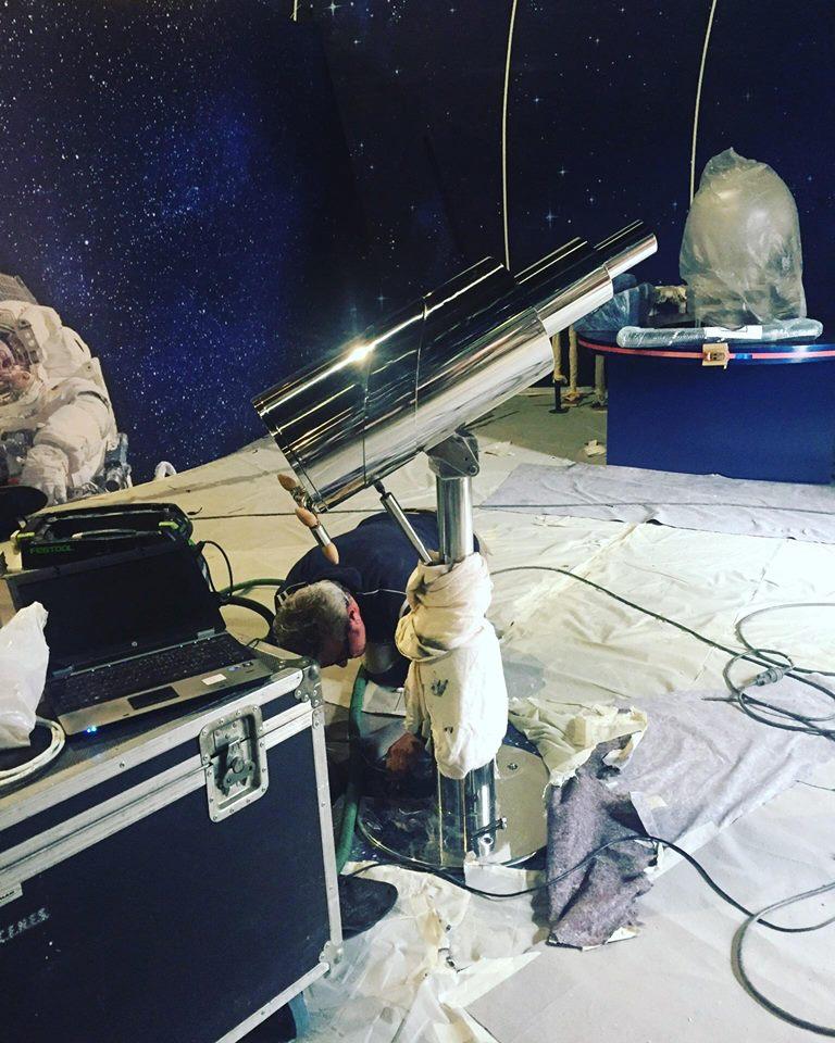 Installation télescope - PlanetOcean Montpellier