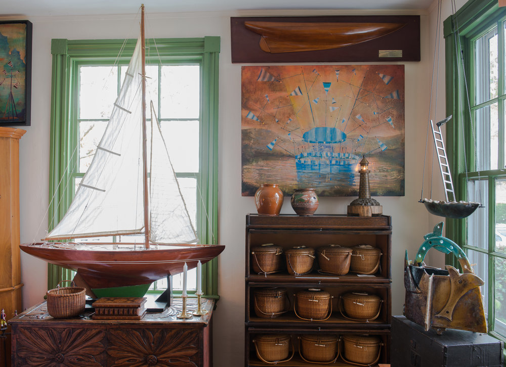 Sailboat and stew pots