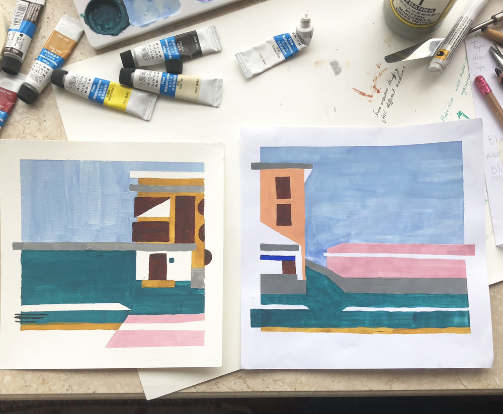 two little studies in MY mess