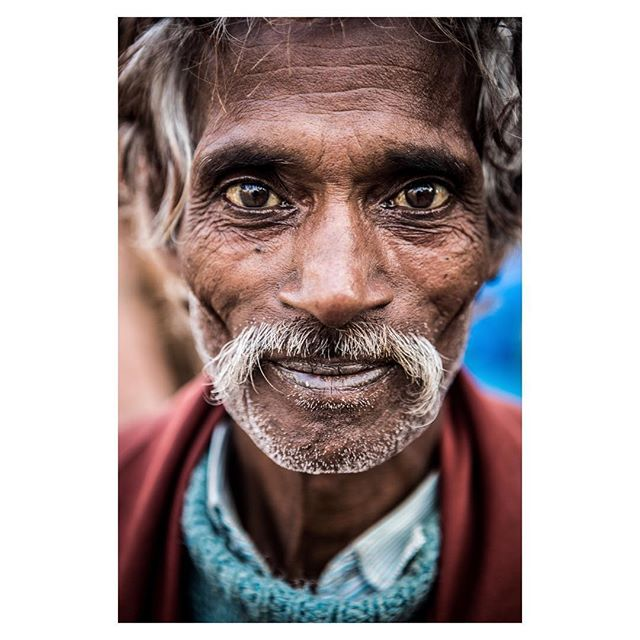 This is a #portrait of Amar. He's a #rikshawala in #varanasi.