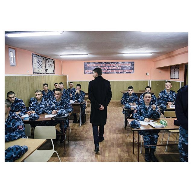 'Unrecognized' is a new project i started in #transnistria. The assistent of the minister of internal affairs is checking at the militay academys new class in #tiraspol