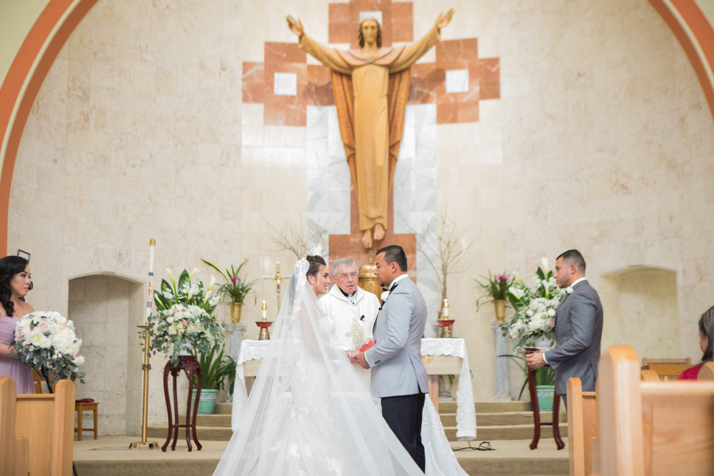 Wedding Ceremony at St Peter Paul Catholic Church