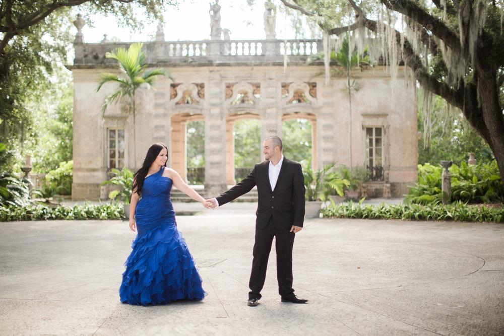 Miami Engagement Photographer - Vizcaya Museum Engagement Photos