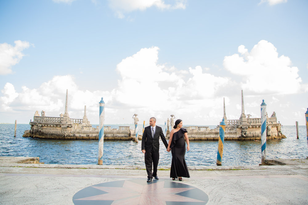 Miami Engagement Photographer - Vizcaya Museum Engagement Photos