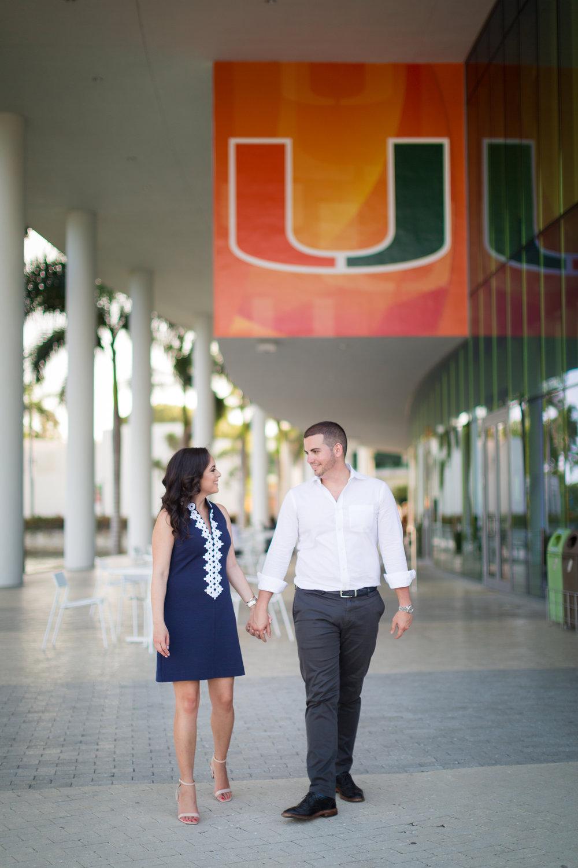 University of Miami Engagement Photo Shoot - Dipp Photography