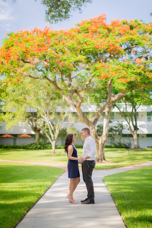 University of Miami Engagement Photos - Dipp Photography