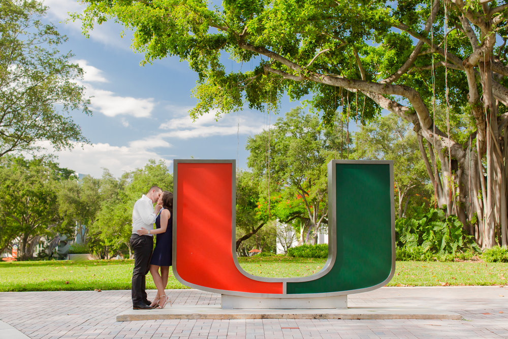 University of Miami Engagement Photo Shoot