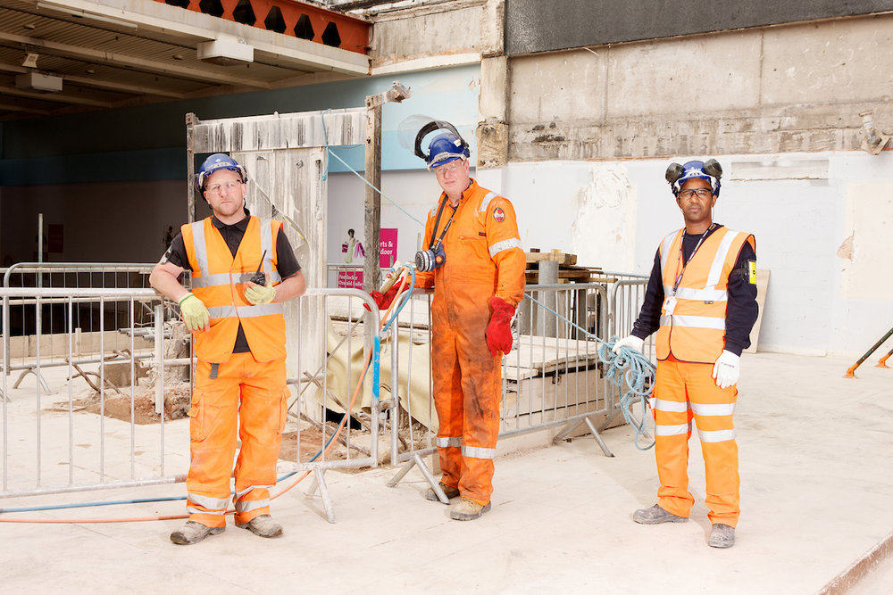 Construction Workers at New Street Station