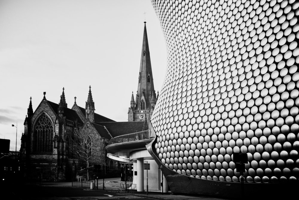 Selfridges and St Martins Church
