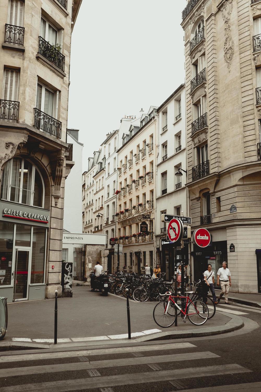 One of the many pretty Le Marais street corners