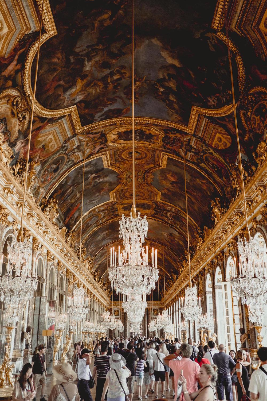 Palace at Versailles - Hall of Mirrors