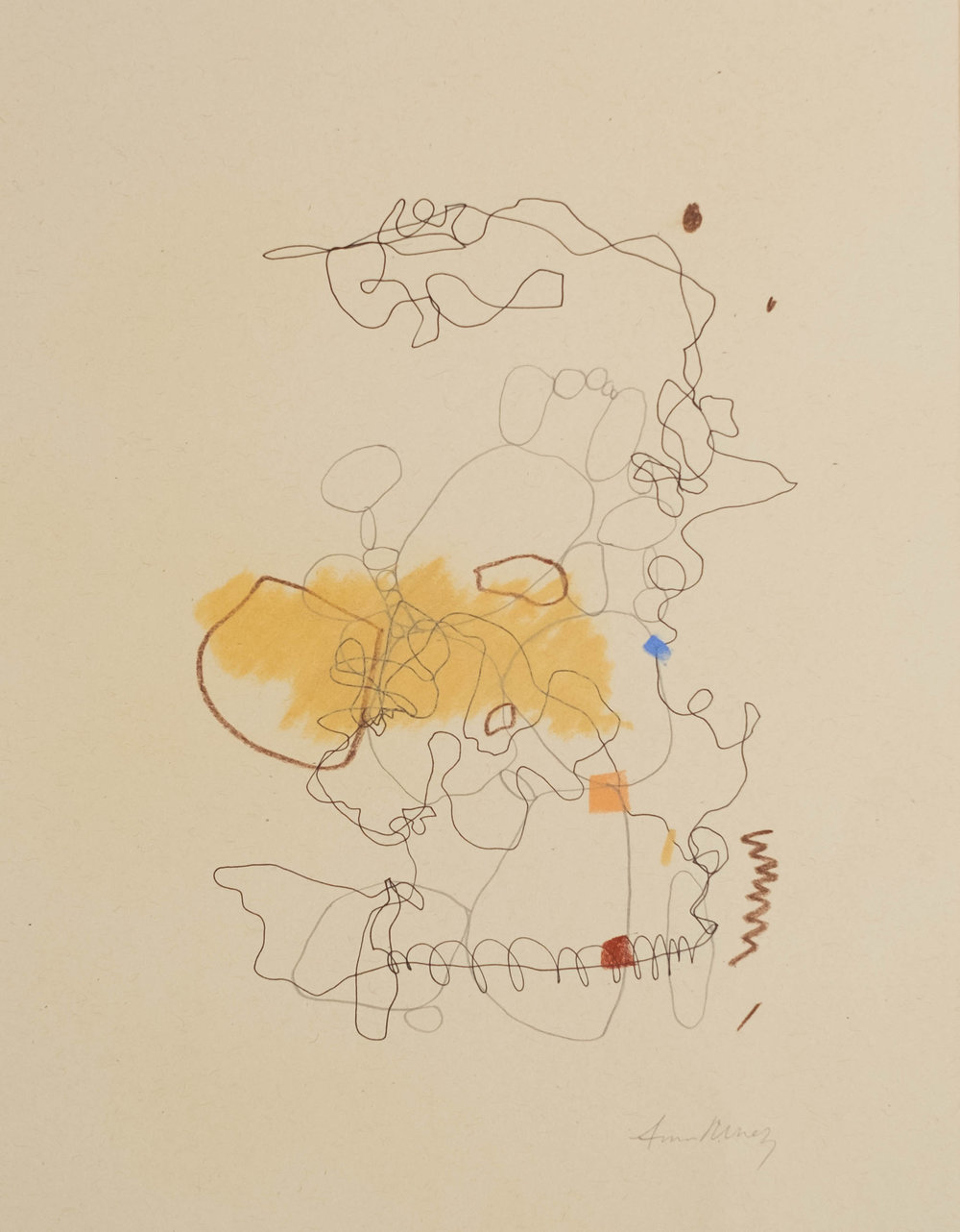 """Can You Hear That  / 8.5"""" x 11"""" / pen, graphite and chalk pastel on paper / Created for Lauren and my collaboration"""