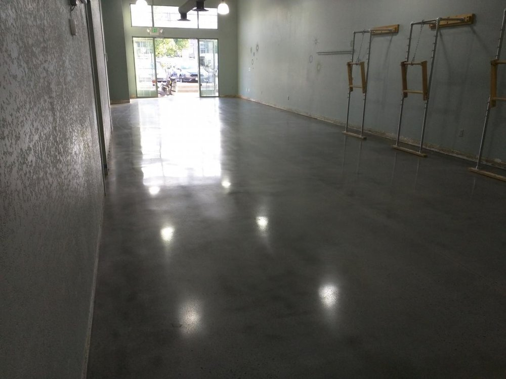 Polished Concrete Pilates Studio
