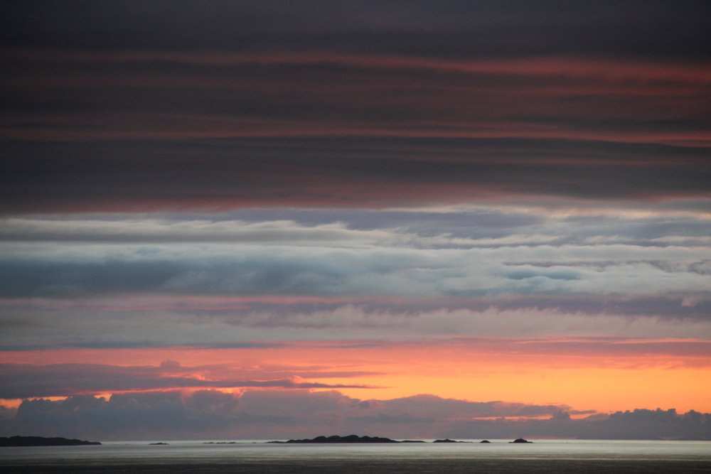 Looking out towards Coll and Tiree from north-west Mull.